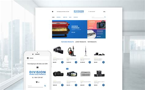 electronics store virtuemart template