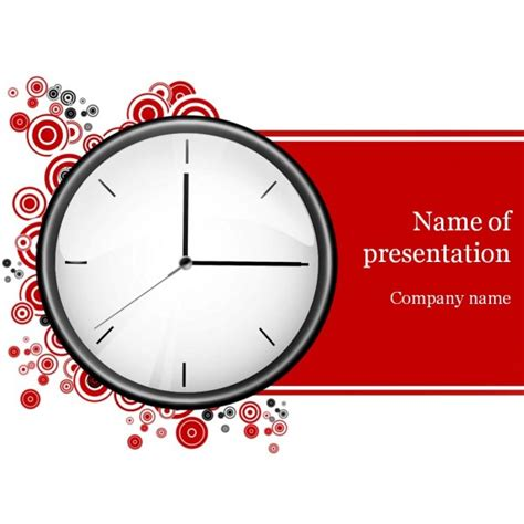 Powerpoint Themes Clock | clock powerpoint template background for presentation