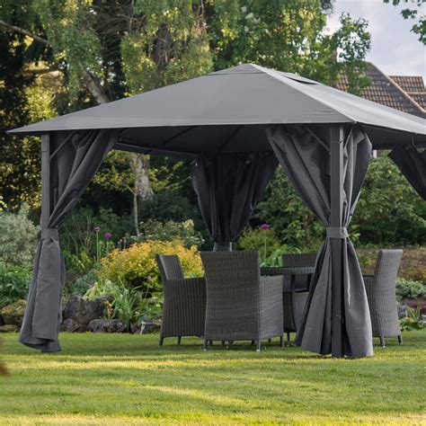 pavillon 3x4 anthrazit provence 3m x 4m gazebo graphite grey my new gazebo