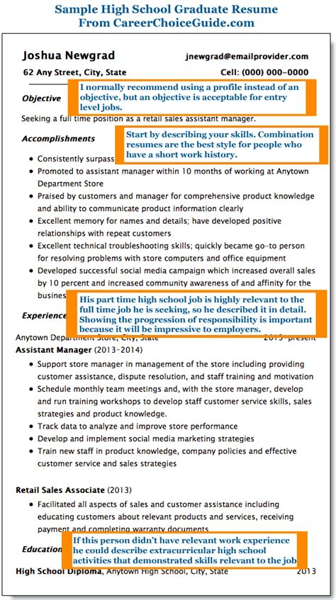resume template for high school graduate template high school