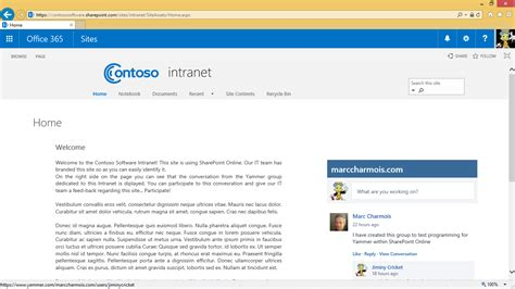 Office Yammer Sharepoint How To Programmatically Embed A Yammer