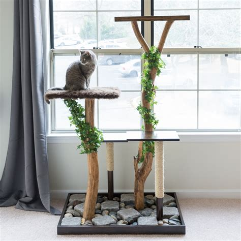 How To Keep Cats Out Of Tree - make a cat tree using real branches my amazing diy cat tree