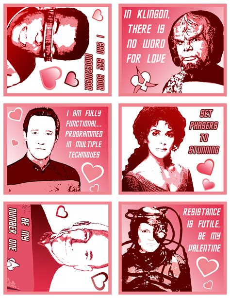 Printable Star Trek Valentines | star trek valentine 1 star trek tng valentines day cards