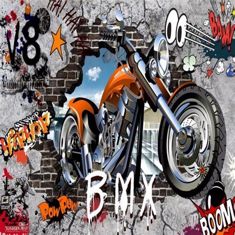 graffiti wallpaper for sale aliexpress com buy beibehang custom motorcycle street