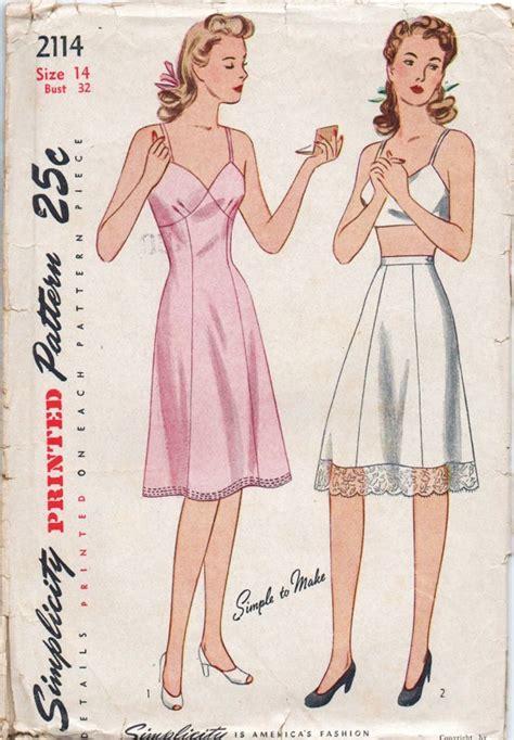 vintage nightwear pattern 86 best 1940s 50s lingerie images on pinterest