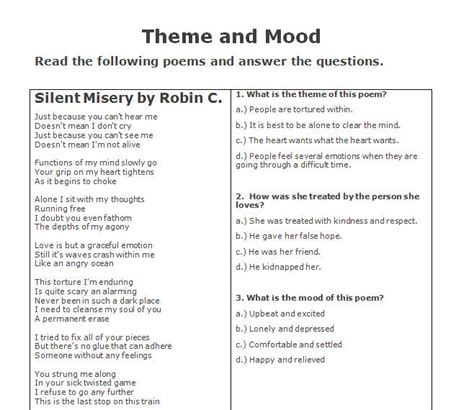 themes in literature handout number names worksheets 187 theme worksheets free