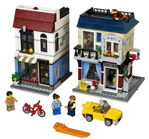 building creator lego bike shop and cafe 31026 summer 2014 set photos bricks and bloks
