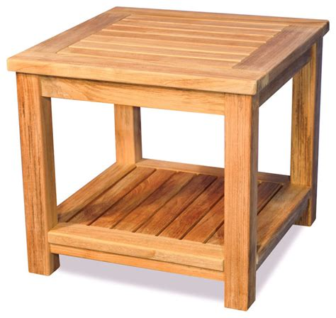 small side table with shelf teak small coffee table or end table with shelf rustic