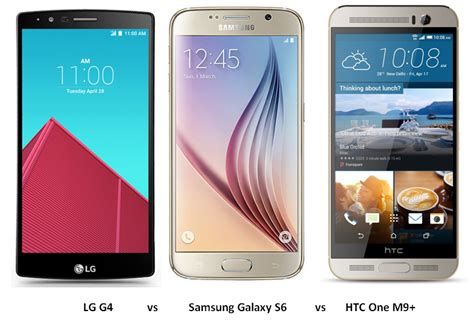 Samsung S6 Vs Lg G4 lg g4 vs samsung galaxy s6 vs htc one m9 specs features comparison intellect digest india