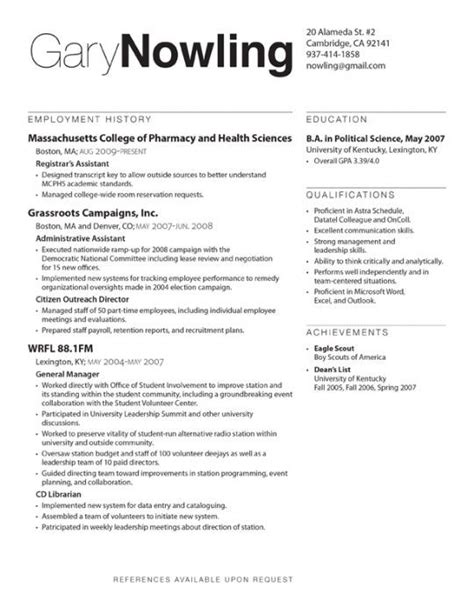 resume design typography design