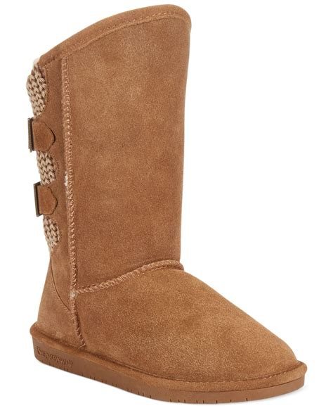 bearpaw boshie cold weather boots in brown hickory lyst