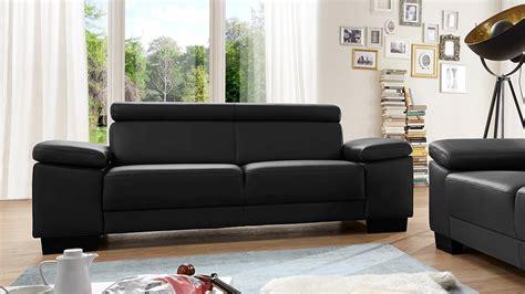 sofa zweisitzer sofa santiago zweisitzer in leder schwarz mit funktion 206