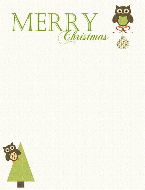 free printable owl letterhead a holiday haven cute christmas owl free printable