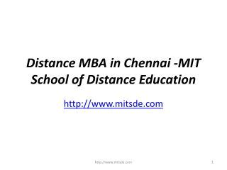 Mba Distance Education In Chennai by Ppt Value Of Isbm Mba Distance Learning Courses