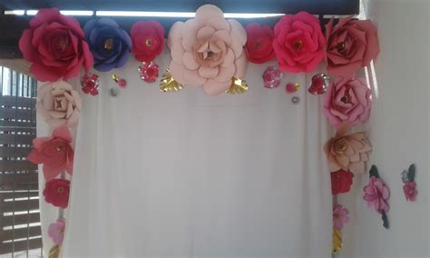 decoracion para cartulinas flores decoracion papel cartulina cumple 1 700 00 en