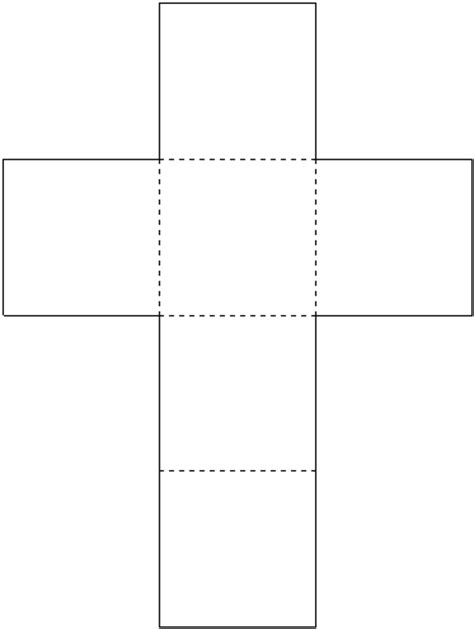cube template pdf cube outline images