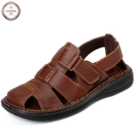 soft leather sandals new 2016 mens fashion casual genuine leather sandals