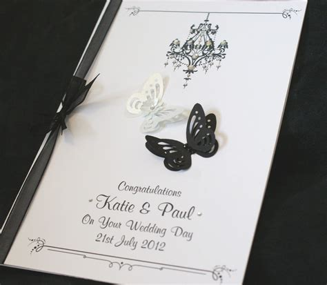 Handmade Wedding Congratulation Cards by Large Handmade Personalised Butterflies Congratulations