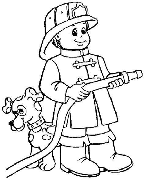 Fireman Coloring Pages Fireman Quot Fire Fighter Quot Printable Coloring Pages