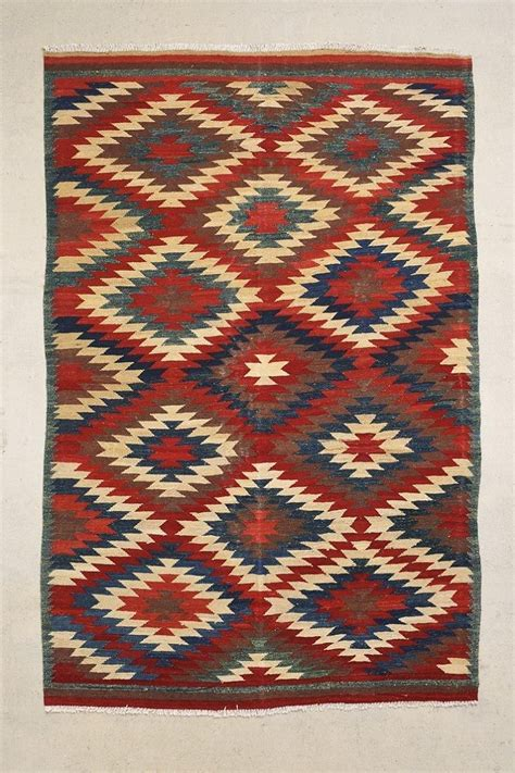 Rugs Like Outfitters by Vintage 6x9 Stacked Kilim Rug