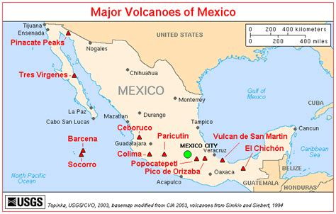 volcanoes geo mexico the geography of mexico eje neovolc 225 nico