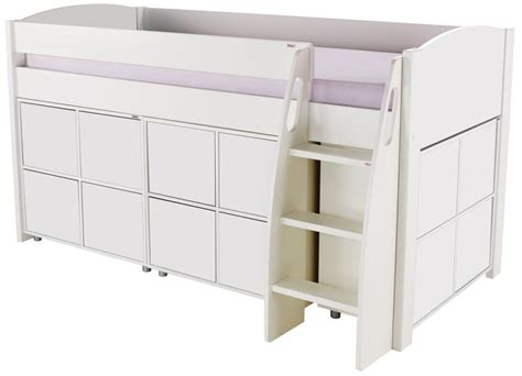 Mid High Sleeper by Buy Stompa White Mid Sleeper Including 3 Multi Cubes And 4