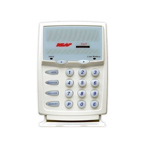 ness wireless alarm keypad home security