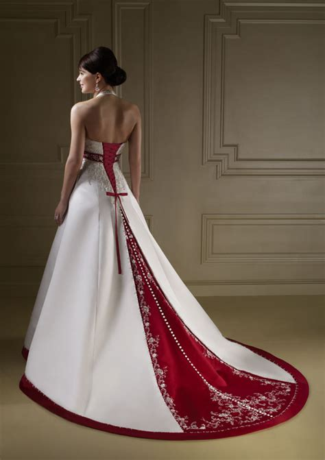 gorgeous red and white wedding dresses to inspire you