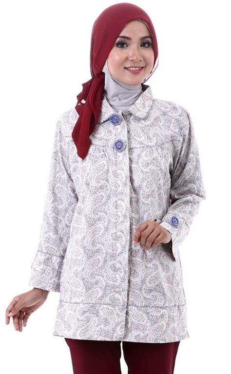 aneka contoh model baju batik muslim design gambar terbaru 2015