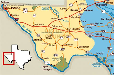 west texas map with cities west texas page 1