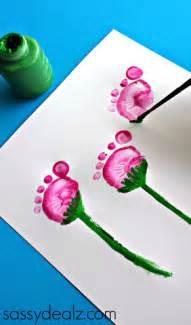 flower pot craft using kid s footprints crafty morning