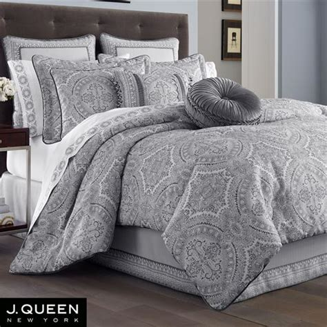 silver comforter queen colette silver comforter bedding by j queen new york