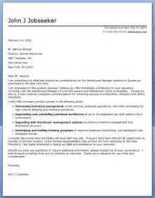 warehouse cover letter warehouse cover letter for resume warehouse associate