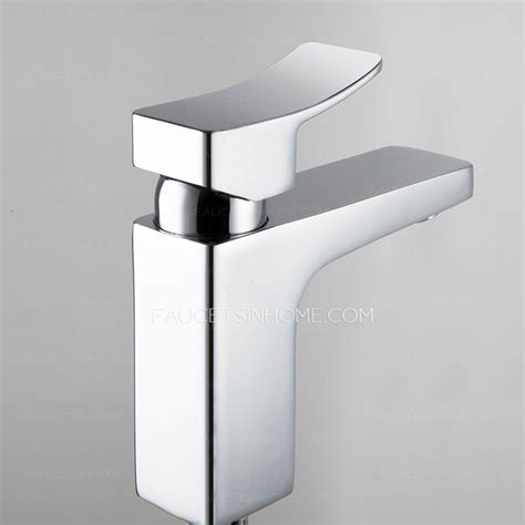 modern bathroom sink faucets modern copper square shaped one handle bathroom sink faucets