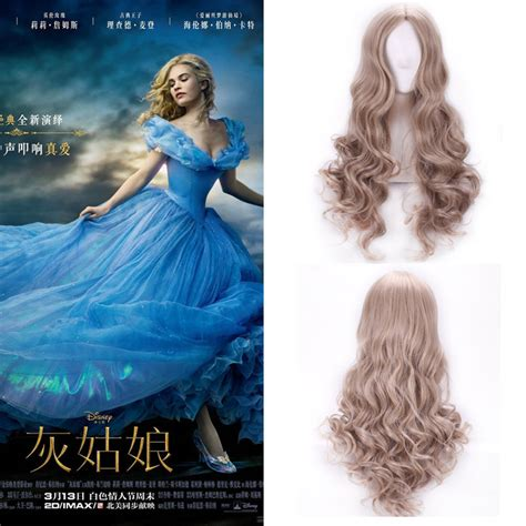 cinderella extensions curly hair wigs for women female cosplay cinderella pure colour long