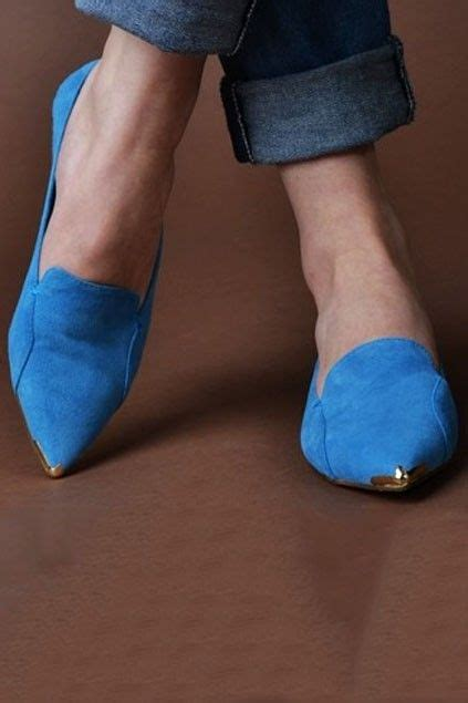 blue suede flat shoes metal tipped blue suede flats wanted wardrobe wonders