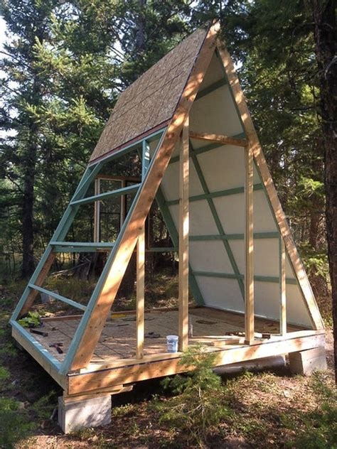 building an a frame cabin builds tiny a frame cabin for just 700