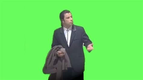confused john travolta meme green screen films and