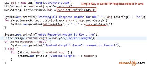 castor tutorial java xml simple way to get http response header in java crunchify