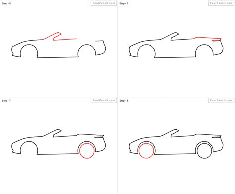 how to draw sports car draw step by step how do you draw a car step by step pencil drawing