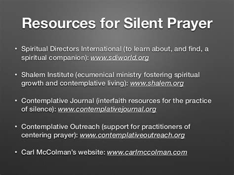 interfaith ministry handbook prayers readings and other resources for pastoral settings books silent prayer and contemplation