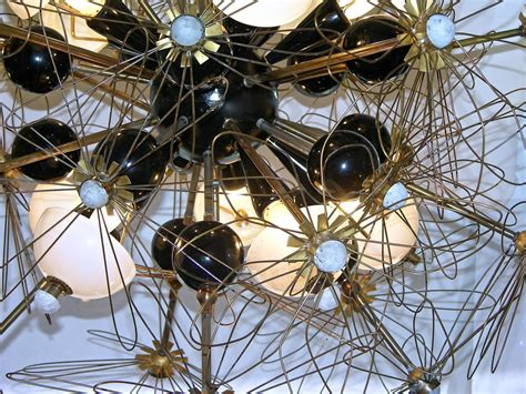 Wired Chandelier One Of A Italian Wired Flower Chandelier At 1stdibs
