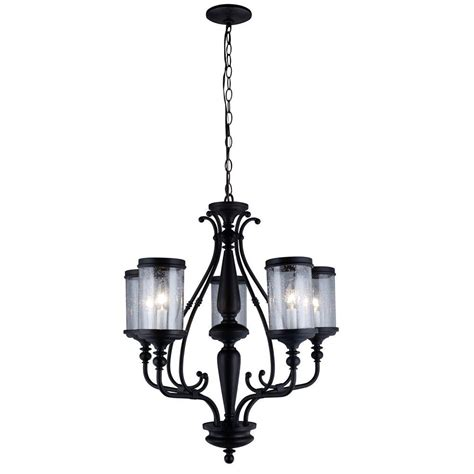 Seeded Glass Chandelier World Imports Estella Collection 5 Light Rubbed Bronze Chandelier With Clear Seeded Glass