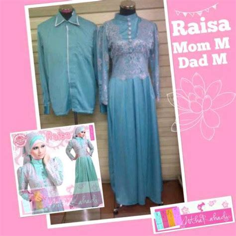 Baju Mayoret Biru Silver baju pesta dan sarimbit kebaya raisa dress made by order outlet nurhasanah outlet baju