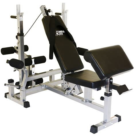 mirafit hd adjustable weight bench home multi with dip