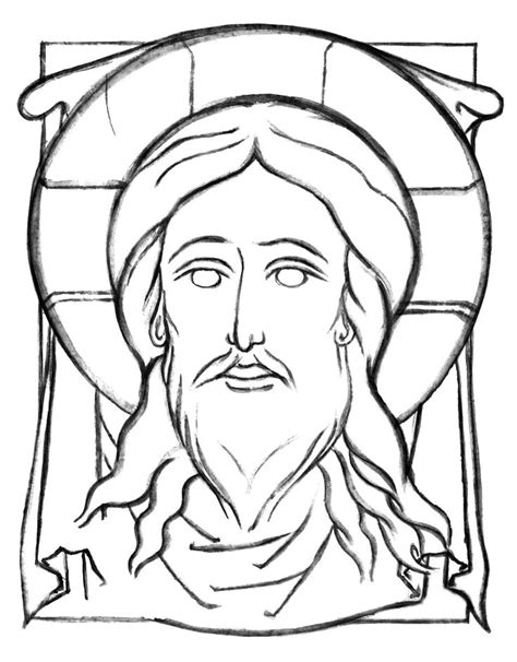 coloring page of jesus face 324 best images about icons coloring pages history and