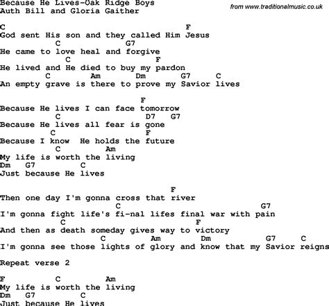 printable lyrics database because he lives lyrics printable bing