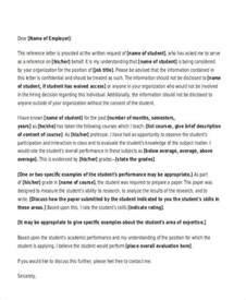 academic reference letter templates 5 free word pdf