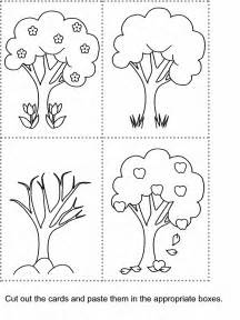 seasons tree colouring pages