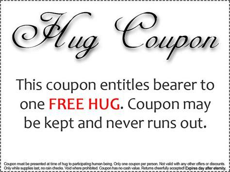 printable free hug coupons joyzachoice minimum daily requirement 16 hugs